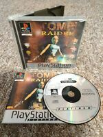 Tomb Raider - Sony Playstation PS1 Game - With MANUAL! Fast & Free P&P!