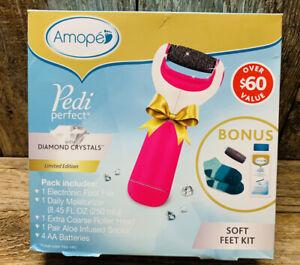 Amope Pedi Perfect 4 Piece Set! Batteries Included! Pedicure In A Box! NIB