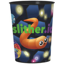 SLITHER.IO REUSABLE KEEPSAKE CUPS (2) ~ Birthday Party Supplies Beverage Favors