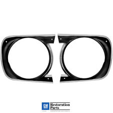 1968 Chevy Camaro Standard Grille Headlight Lamp Bezels Pair / Left & Right Side