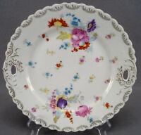 O & E G Royal Austria Meissen / Dresden Style Floral Cake Plate C. 1898 - 1918
