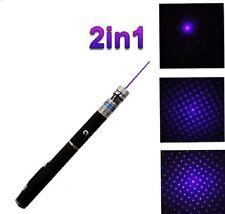 Rare Pointeur laser BLEU/VIOLET 2 en 1 MODEL - EFFET STROBOSCOPE-1MW