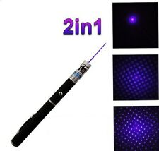 Pointeur laser BLEU/VIOLET 2 en 1 TOP MODEL - EFFET STROBOSCOPE-1MW