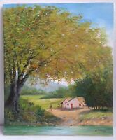 Original Landscape Painting on Canvas 24 x 20 by Eusebio Vidal 2006 Signed