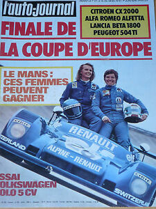 L'AUTO JOURNAL 1975 10 24H MANS VW POLO 504TI BETA 1800 CX2000 ALFETTA GP MONACO