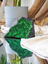 Huge uvarovite green garnet collectible specimen