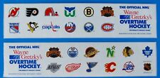 Rare Wayne Gretzky NHL Overtime Table Hockey Game Side Panel Decals (Two Pair)