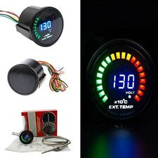 "TRUCK RACING 52mm 2"" DIGITAL ANALOG LED EXHAUST GAS TEMP GAUGE METER WITH SENSOR"