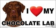 I (Heart) MY Chocolate Lab Magnet LOVE  Made in USA
