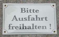BITTE AUSFAHRT FREIHALTEN Emailleschild Schild Emaile Metallschild Hinweisschild