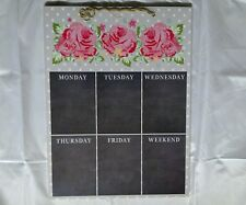 Weekly Days Of Week Blackboard Memo Notice Board Polka Dot Pink Rose