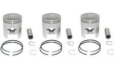 Kawasaki S2 350SS 1.0mm Oversize Pistons Set 3 Pistons Include 10-S2PS-2