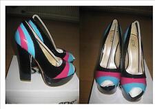 Super schöne Damenschuhe in schwarz/blau/rosa Gr 39  Neu