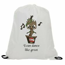 I CAN DANCE LIKE GROOT  SUBLIMATION GYM SWIMMING PE DRAWSTRING BAG