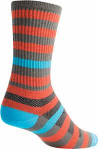 SockGuy Metro Crew Socks | 6 inch | Orange/Gray | S/M