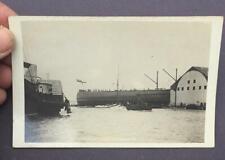 HMS BELLEROPHON 1907 - 1921 WW1 DREADNOUGHT 4 x REAL PHOTO POSTCARDS - LOT 174