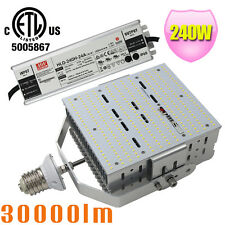 E39 240W LED Shoebox Retrofit 1500W MH Basketball Court Parking Lot Light 5700K