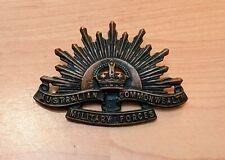 Australian Commonwealth Military Forces Rising Sun Slouch Hat Badge KG LUKE ARMY
