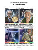 Guinea Albert Einstein Stamps 2019 MNH Famous People Science Physics 4v M/S