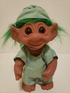 Vintage 1977 Troll With Green Hair In Scrubs