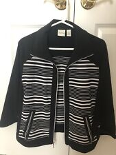 Chico's Zenergy Black Zip Jacket Sz 2