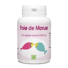Huile de Foie de Morue - 100 capsules à 400 mg