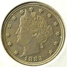 1883 US Liberty Nickel, V-Nickel, No Cents, Gorgeous!, #A34