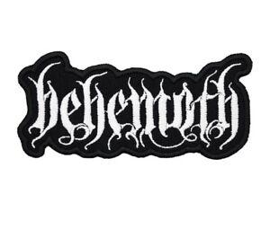 Behemoth Patch Black Death Metal Band Logo