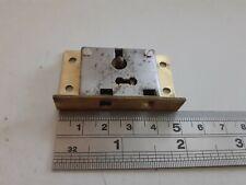 Brass-Steel Box-Chest Lock 50mm x 30mm 1 Key (1194) No Keep