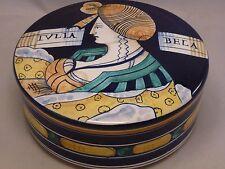 Collezione  Pottery Ceramic lidded Box  trinket jar  Handmade   Italy Massimo
