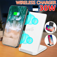 AU 30W Qi Fast Wireless Charger Charging Dock Stand For iPhone 12 Pro Max 11 XS