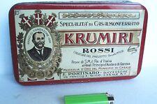 SCATOLA LATTA LITOGRAFATA KRUMIRI ROSSI CASALE MONFERRATO VINTAGE 24X15X6 CM