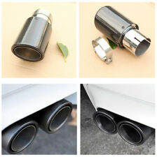 Universal Steel Real Carbon Fiber Auto Car Muffler Exhaust Tip 63MM IN-89MM OUT