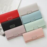 Women Ladies PU Leather Wallet Purse Long Handbag Clutch Box Bag Card Holder