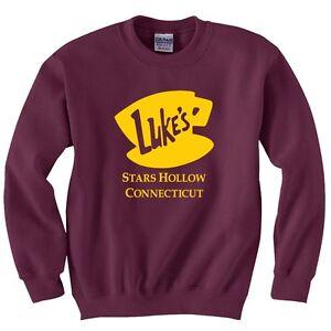 Gilmore Girls Luke's Diner Stars Hollow Sweatshirt Adult Youth size Sweatshirts