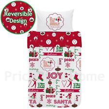 ELFE SUR étagère Coton Simple Jeu de Housse et taie d'oreiller couette Noël