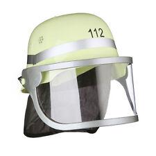 Feuerwehrhelm Kinder Helm Feuerwehr Nackentuch Visier klappbar verstellbar PVC