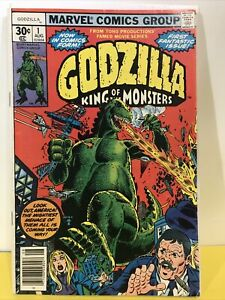 GODZILLA King of the Monsters #1 (1977) Marvel NEWSSTAND F/VF 1st Issue