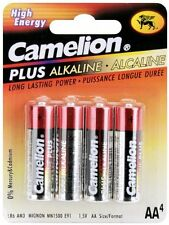 "Camelion Plus Alkaline High Energy ""AA"" Battery 4 Pk"