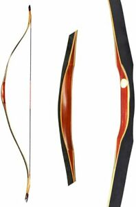 55'' Traditional Wood Recurve Bow Handmade Horse Bow 20-50LBS RH LH Outdoor Hunt
