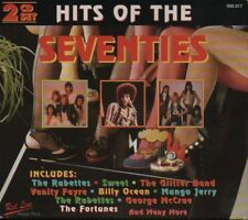 HITS OF THE SEVENTIES - RABETTES, SWEET, GLITTER BAND, VANITY FAYRE - 2CD F/S