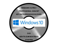 Microsoft Windows 10 Pro Vollversion 32 & 64 Bit Product-Key OEM + GRATIS DVD