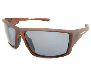 North Beach Polarized Pluma Sunglasses Matt Xtal Brown /Grey 70488