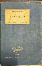 RICORDI - MARCO AURELIO - EINAUDI EDITORE 1943