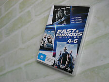 FAST & FURIOUS COLLECTION 4-6 - REGION 4 PAL - 3 DISC DVD