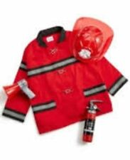 FAO Schwarz $40 NWT 4 Piece Firefighter Role Play Children Outfit Set  Red Coat
