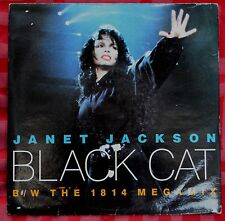 "Janet Jackson – Black Cat 7""– AM 587 – VG"