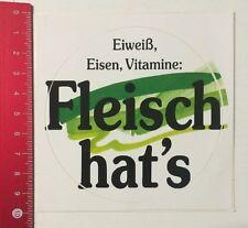 Aufkleber/Sticker: Eiweiß Eisen Vitamine - Fleisch Hat's (280516117)