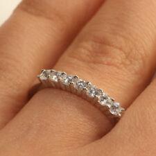 18k White Gold Finish 1TCW Diamond Wedding Band Ring For Women Gift