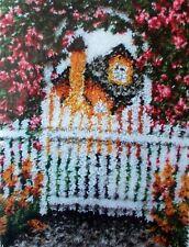 "LATCH HOOK RUG MAKING  KIT  ""GARDEN GATE""  Floral rug by Wonderart"